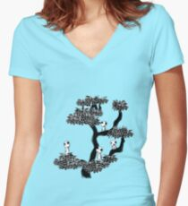 Kodama Tree Women's Fitted V-Neck T-Shirt