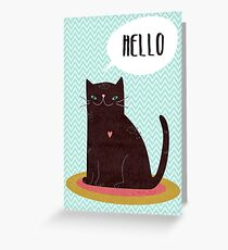 Hello Catty Greeting Card