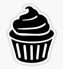Black cupcake logo Sticker