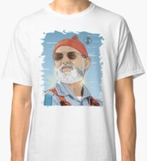 Bill Murray as Steve Zissou Illustrated Portrait Classic T-Shirt