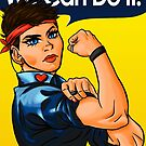 We Can Do It! (Heart Pin) by DooUBLE  VISIoN