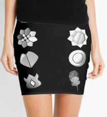 Pokemon Indigo Badges Mini Skirt