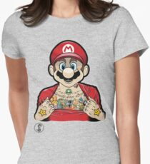 Mario's Got Ink Womens Fitted T-Shirt