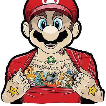 Mario's Got Ink by kevinspelican