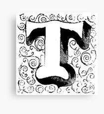 Block Alphabet Letter T Canvas Print