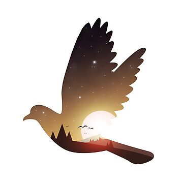 Bird Sunset by bigeblack