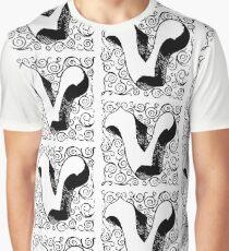 Block Alphabet Letter V Graphic T-Shirt