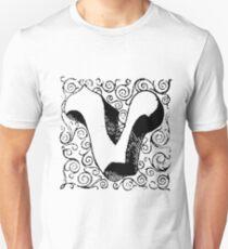 Block Alphabet Letter V Unisex T-Shirt