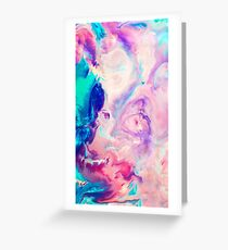 colorfull marble Greeting Card