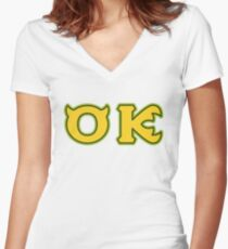 Oozma Kappa - OK  Women's Fitted V-Neck T-Shirt