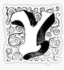 Block Alphabet Letter Y Sticker