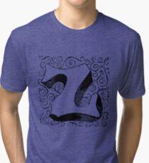 Block Alphabet Letter Z Tri-blend T-Shirt