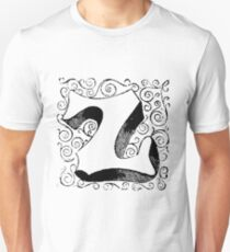 Block Alphabet Letter Z Unisex T-Shirt