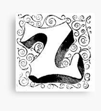 Block Alphabet Letter Z Canvas Print