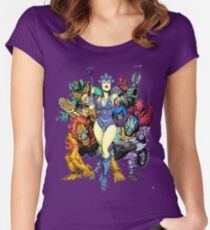 The bad guys of Eternia Women's Fitted Scoop T-Shirt