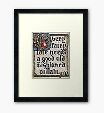 Sherlock Moriarty Calligraphy Framed Print