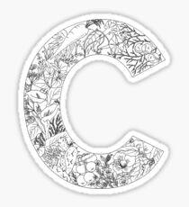 Botanical Alphabet Letter C Sticker