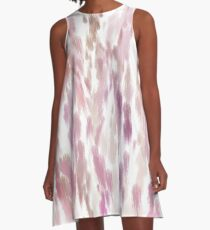 Pink Peaches A-Line Dress
