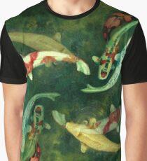 Koi Pond Mirror Graphic T-Shirt