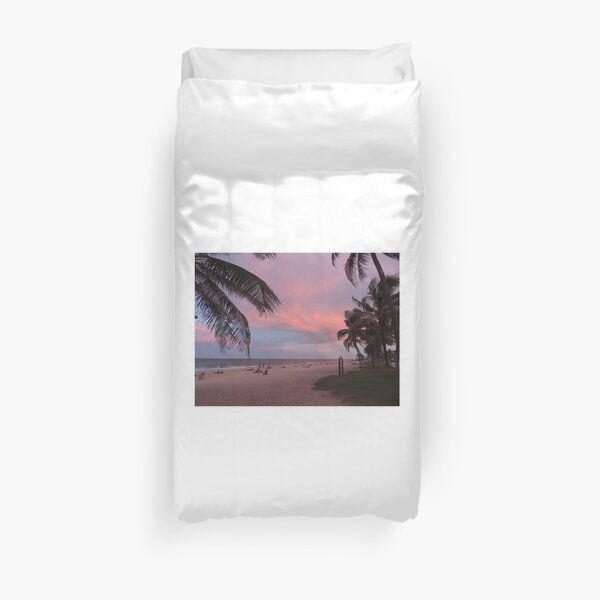 Pink Florida Sunset Duvet Cover