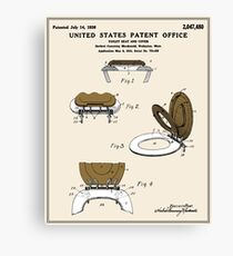 Toilet Seat and Cover Patent - Colour Canvas Print