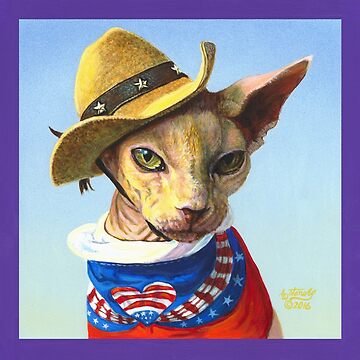 Sphynx Cat 4th of July Independence Day by artbyakiko