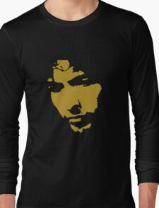 black and gold music legend silhouette Long Sleeve T-Shirt