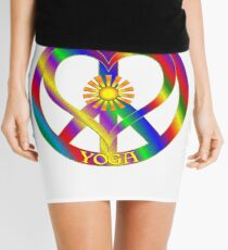 Peace Love Yoga Mini Skirt