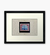 The Five Cent Bi-Color Air Mail Stamp of 1928 Framed Print