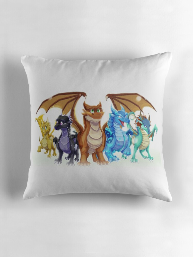 Quot Wings Of Fire Main Five Quot Throw Pillows By Blazetfd
