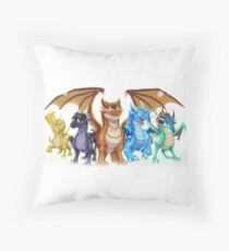 Wings of Fire Main Five Throw Pillow