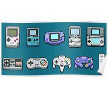Nintendo Controller Family  Poster