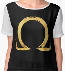 Letter Omega - Gold Edition Chiffon Top