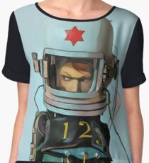 Cosmonaut Vector Large Women's Chiffon Top