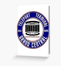 GRAND CENTRAL NEW YORK TELEPORT TERMINAL Greeting Card