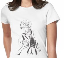 Mr Clever - Black and White Womens Fitted T-Shirt