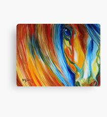 ABSTRACT EQUINE HOPE 2418 Canvas Print