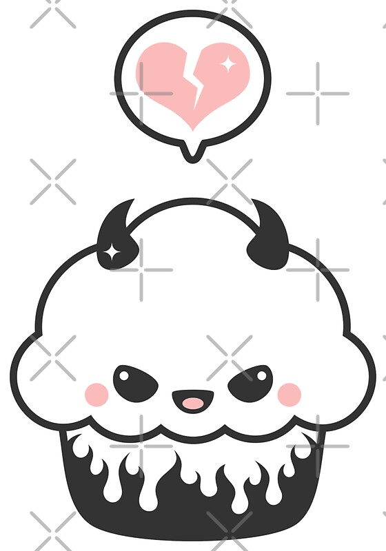 """Cute Evil Cupcake"" Stickers by sugarhai 