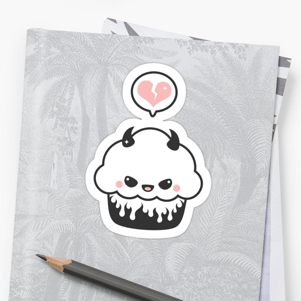 """Cute Evil Cupcake"" Stickers by sugarhai | Redbubble"