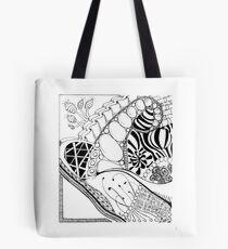Zentangle Scenery Tote Bag