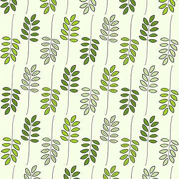 Green Fern Leaves by givemeenvy
