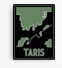 Taris art deco canvas print