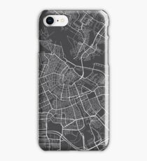 Amsterdam Map, Netherlands - Gray iPhone Case/Skin