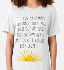 Good Thoughts- Roald Dahl Quote Slim Fit T-Shirt