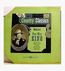 """Pee Wee King Country Classics 10""""lp Waltzes, Western Swing Photographic Print"""