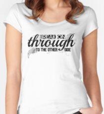 The Doors Break On Through Lyrics  Women's Fitted Scoop T-Shirt