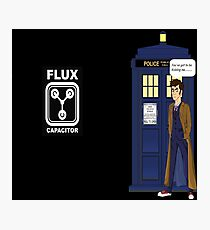 Dr Who David Tennant vs Back to the Future Photographic Print