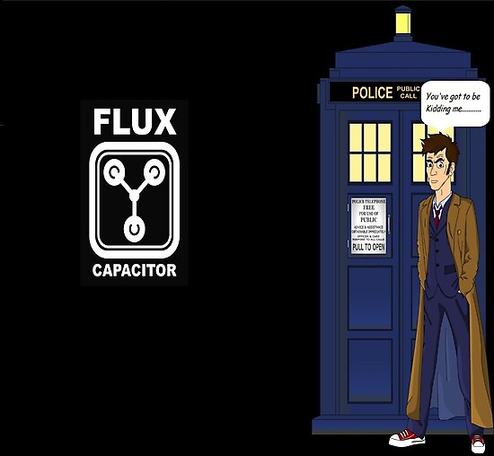 Dr Who David Tennant vs Back to the Future by Raymondee100