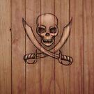 Pirate iPhone & i Pad case by Sarah  Mac Illustration