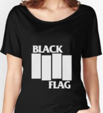 Black Flag Band Women's Relaxed Fit T-Shirt